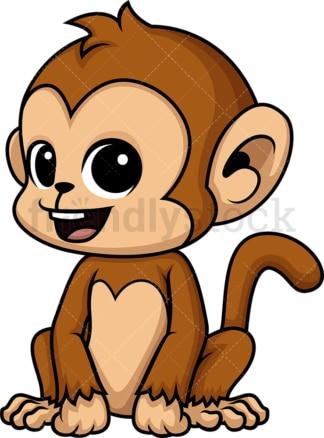 Chibi kawaii monkey. PNG - JPG and vector EPS (infinitely scalable).