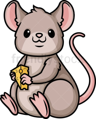 Chibi kawaii mouse. PNG - JPG and vector EPS (infinitely scalable).