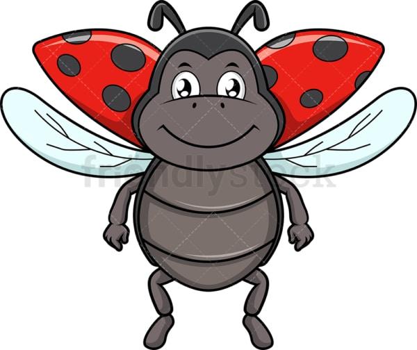 Flying ladybird beetle. PNG - JPG and vector EPS (infinitely scalable).