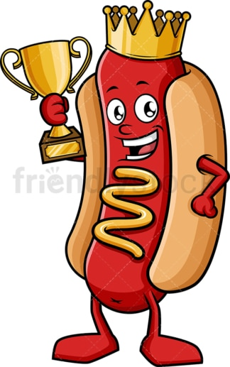King hot dog contest. PNG - JPG and vector EPS (infinitely scalable).