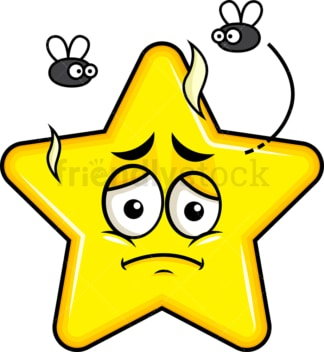 Stinky star going bad emoticon. PNG - JPG and vector EPS file formats (infinitely scalable). Image isolated on transparent background.