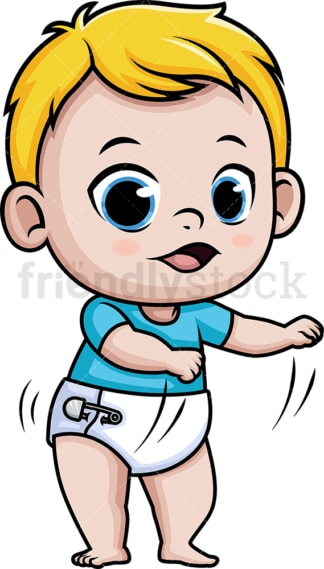 Baby boy doing the floss dance. PNG - JPG and vector EPS (infinitely scalable).