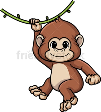 Chibi kawaii chimpanzee. PNG - JPG and vector EPS (infinitely scalable).