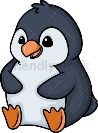 Chibi kawaii penguin. PNG - JPG and vector EPS (infinitely scalable).