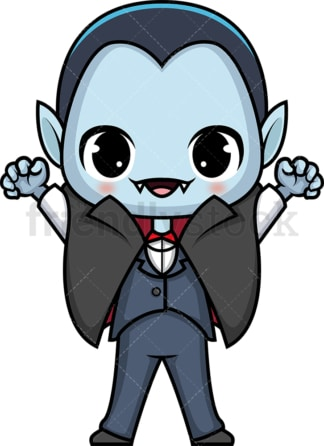 Chibi kawaii vampire. PNG - JPG and vector EPS (infinitely scalable).