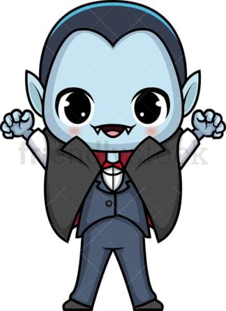 Chibi kawaii vampire. PNG - JPG and vector EPS (infinitely scalable).