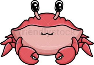 Kawaii crab. PNG - JPG and vector EPS (infinitely scalable).