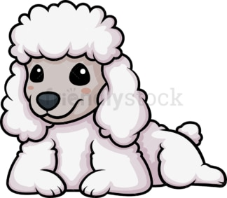 Kawaii poodle dog. PNG - JPG and vector EPS (infinitely scalable).