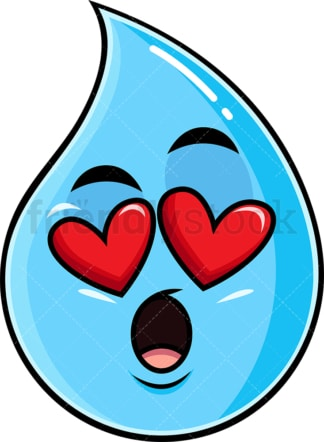 In love raIndrop emoticon. PNG - JPG and vector EPS file formats (infinitely scalable). Image isolated on transparent background.