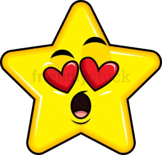 In love star emoticon. PNG - JPG and vector EPS file formats (infinitely scalable). Image isolated on transparent background.
