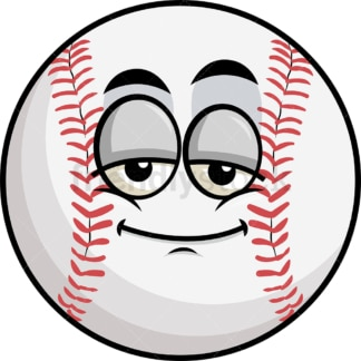 Sleepy baseball emoticon. PNG - JPG and vector EPS file formats (infinitely scalable). Image isolated on transparent background.