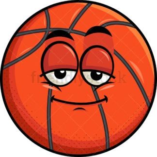 Sleepy basketball emoticon. PNG - JPG and vector EPS file formats (infinitely scalable). Image isolated on transparent background.