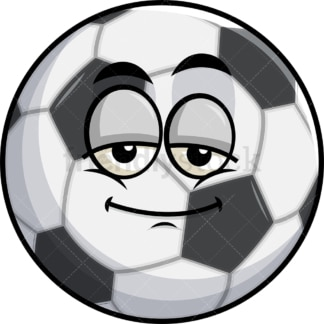 Sleepy soccer ball emoticon. PNG - JPG and vector EPS file formats (infinitely scalable). Image isolated on transparent background.