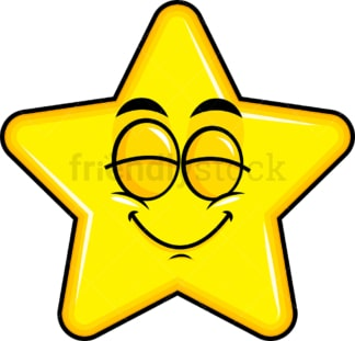 Delighted star emoticon. PNG - JPG and vector EPS file formats (infinitely scalable). Image isolated on transparent background.