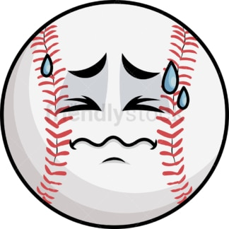 In Pain Baseball Emoticon. PNG - JPG and vector EPS file formats (infinitely scalable). Image isolated on transparent background.