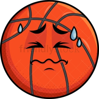 In Pain Basketball Emoticon. PNG - JPG and vector EPS file formats (infinitely scalable). Image isolated on transparent background.