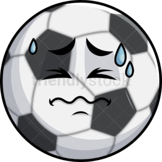 In Pain Soccer Ball Emoticon. PNG - JPG and vector EPS file formats (infinitely scalable). Image isolated on transparent background.