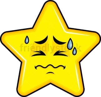 In Pain Star Emoticon. PNG - JPG and vector EPS file formats (infinitely scalable). Image isolated on transparent background.