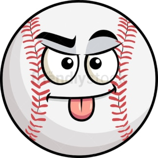 Sarcastic baseball emoticon. PNG - JPG and vector EPS file formats (infinitely scalable). Image isolated on transparent background.