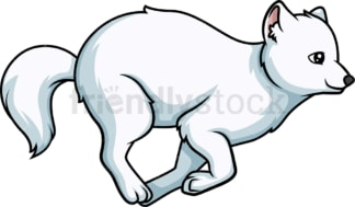 Arctic fox running. PNG - JPG and vector EPS (infinitely scalable).