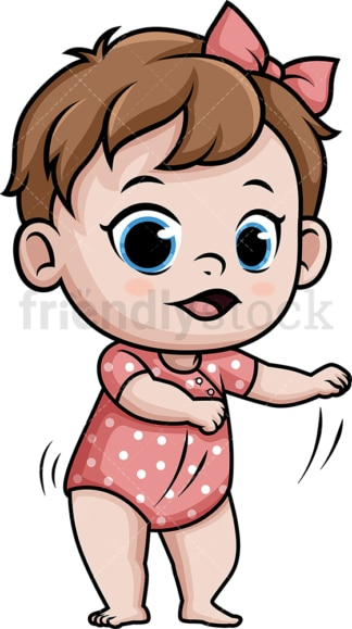 Baby girl doing the floss dance. PNG - JPG and vector EPS (infinitely scalable).