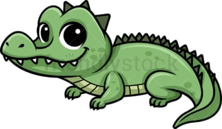 Chibi kawaii alligator. PNG - JPG and vector EPS (infinitely scalable).