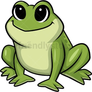 Chibi kawaii frog. PNG - JPG and vector EPS (infinitely scalable).