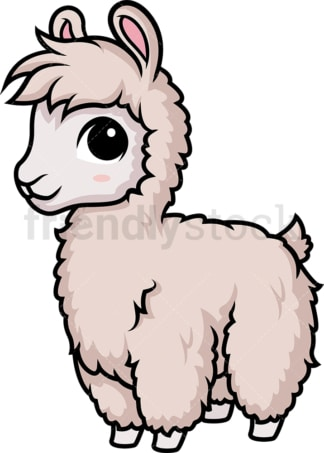 Chibi kawaii llama. PNG - JPG and vector EPS (infinitely scalable).