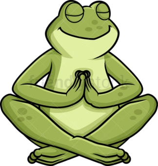 Frog meditating. PNG - JPG and vector EPS (infinitely scalable).