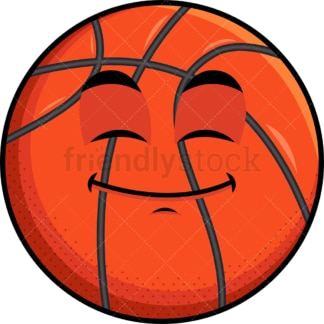 Happy looking basketball emoticon. PNG - JPG and vector EPS file formats (infinitely scalable). Image isolated on transparent background.