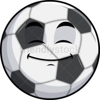 Happy looking soccer ball emoticon. PNG - JPG and vector EPS file formats (infinitely scalable). Image isolated on transparent background.