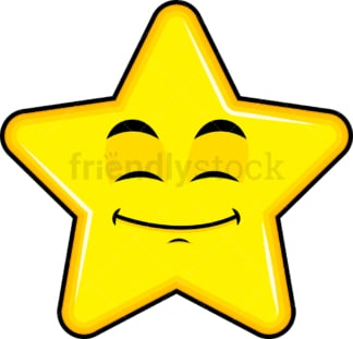 Happy looking star emoticon. PNG - JPG and vector EPS file formats (infinitely scalable). Image isolated on transparent background.