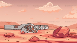 Human base in mars background in 16:9 aspect ratio. PNG - JPG and vector EPS file formats (infinitely scalable).