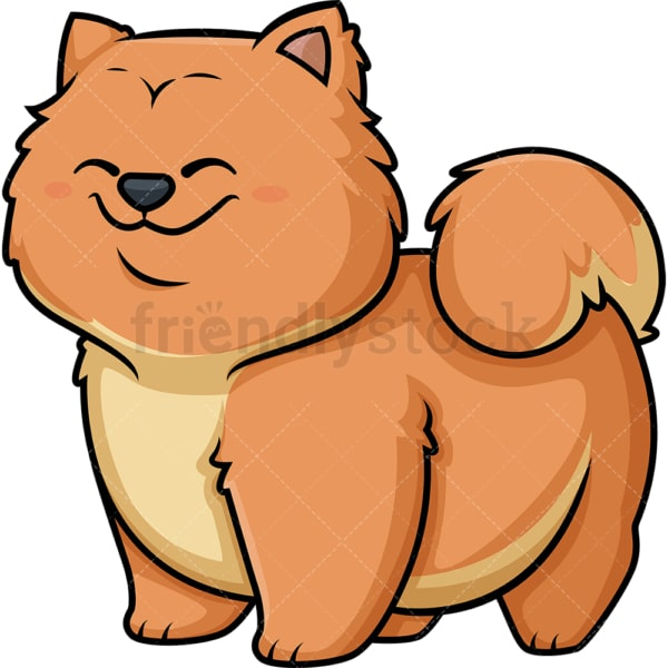 Kawaii chow chow dog. PNG - JPG and vector EPS (infinitely scalable).