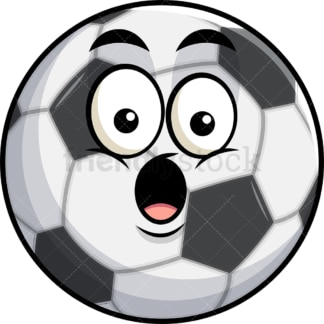 Surprised soccer ball emoticon. PNG - JPG and vector EPS file formats (infinitely scalable). Image isolated on transparent background.