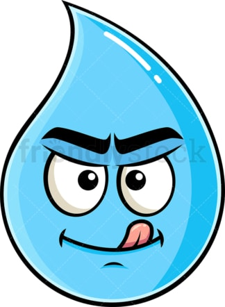 Evil look raindrop emoticon. PNG - JPG and vector EPS file formats (infinitely scalable). Image isolated on transparent background.