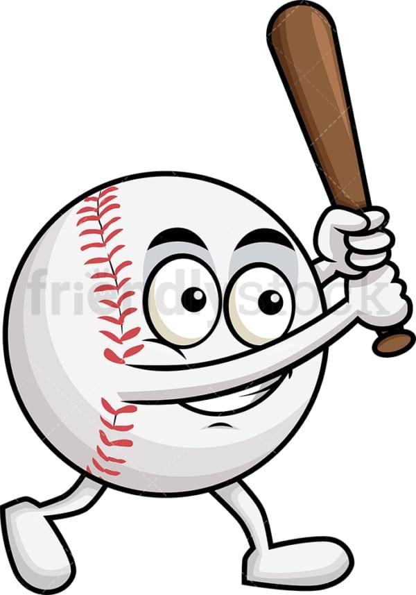 Baseball cartoon swinging Baseball bat. PNG - JPG and vector EPS file formats (infinitely scalable). Image isolated on transparent background.