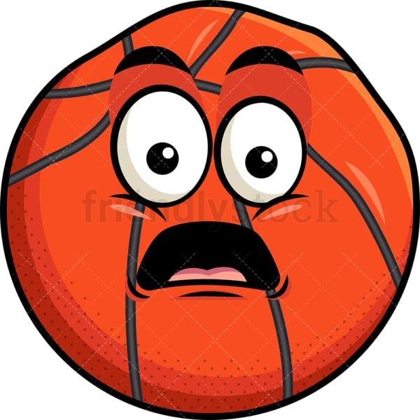 Deflated basketball emoticon. PNG - JPG and vector EPS file formats (infinitely scalable). Image isolated on transparent background.