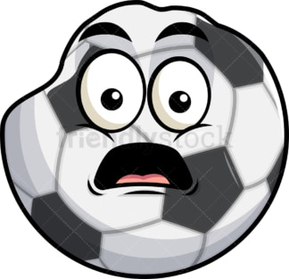 Deflated soccer ball emoticon. PNG - JPG and vector EPS file formats (infinitely scalable). Image isolated on transparent background.