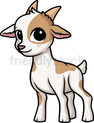 Chibi kawaii goat. PNG - JPG and vector EPS (infinitely scalable).