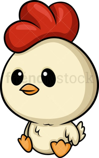 Chibi kawaii little chicken. PNG - JPG and vector EPS (infinitely scalable).