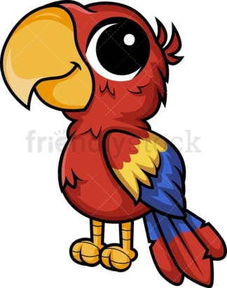 Chibi kawaii macaw parrot. PNG - JPG and vector EPS (infinitely scalable).