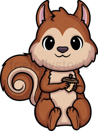 Chibi kawaii squirrel. PNG - JPG and vector EPS (infinitely scalable).