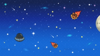 Galaxy space background in 16:9 aspect ratio. PNG - JPG and vector EPS file formats (infinitely scalable).