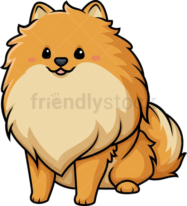 Kawaii pomeranian dog. PNG - JPG and vector EPS (infinitely scalable).