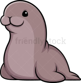 Kawaii sea lion. PNG - JPG and vector EPS (infinitely scalable).