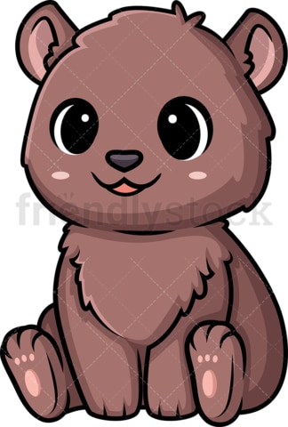 Chibi kawaii bear. PNG - JPG and vector EPS (infinitely scalable).