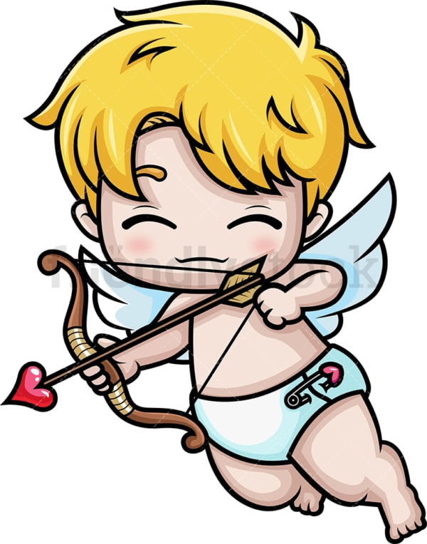 Chibi kawaii cupid. PNG - JPG and vector EPS (infinitely scalable).