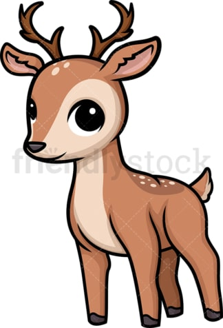 Chibi kawaii deer. PNG - JPG and vector EPS (infinitely scalable).