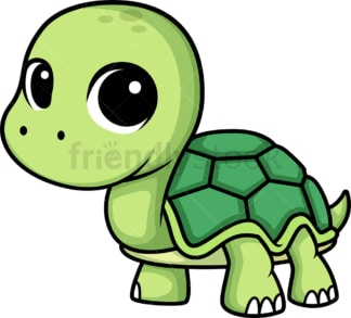 Chibi kawaii turtle. PNG - JPG and vector EPS (infinitely scalable).
